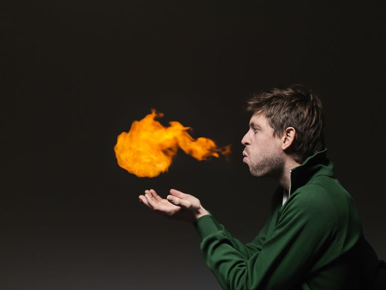 Firebreathing Science Trick
