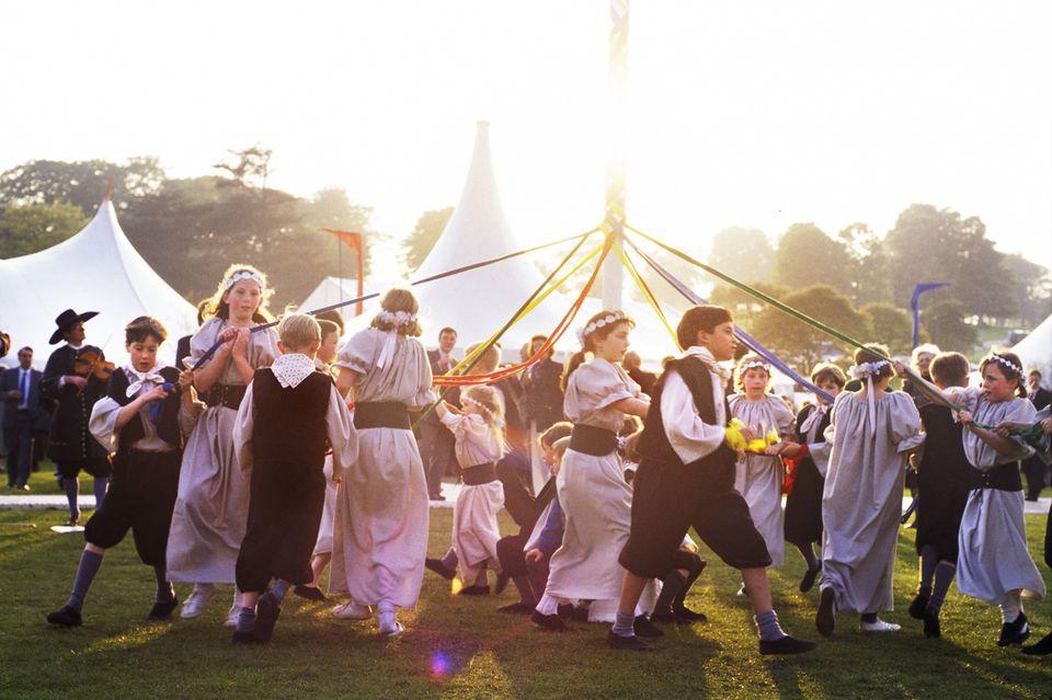 Maypole Dancing at Chatsworth House
