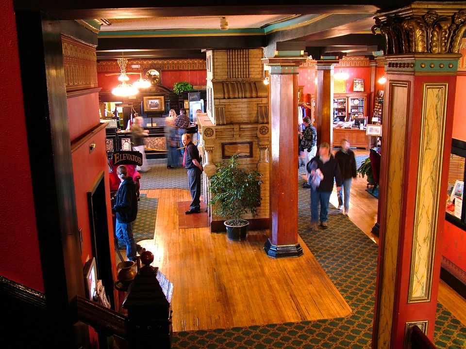 The Crescent Hotel's lobby.