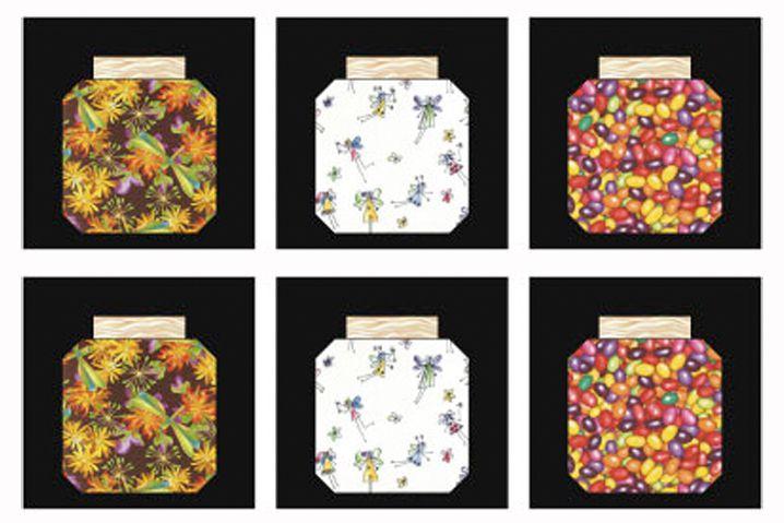Easy Bug Jar Quilt Block Pattern