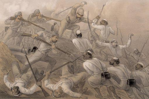 Illustration of the Sepoy Mutiny