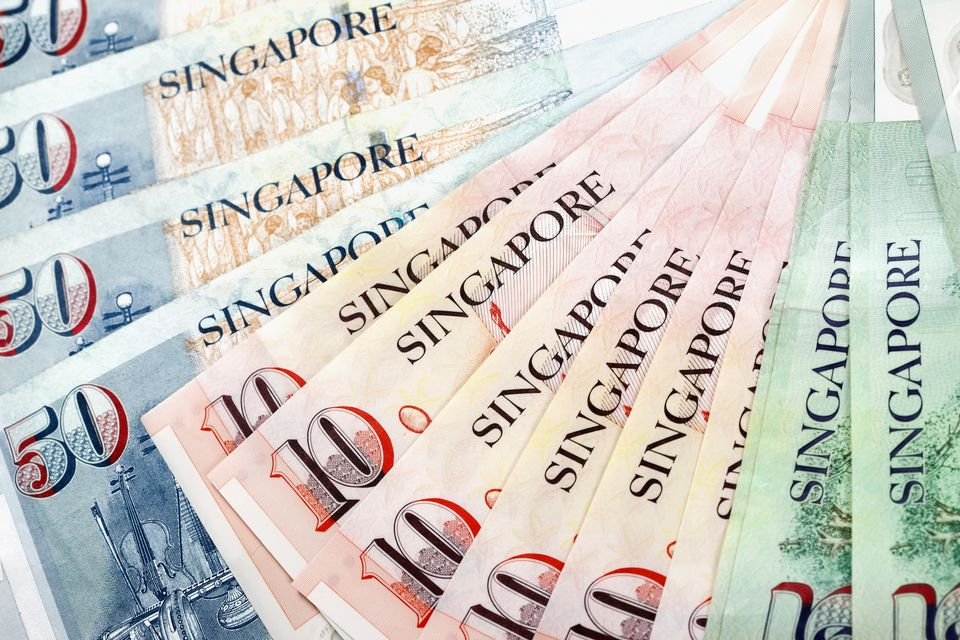 Sheaf of Singapore dollars