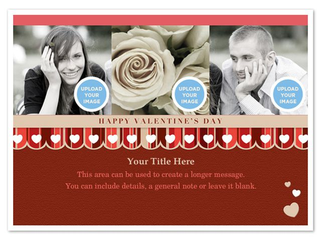 a valentines day ecard with room for three photos