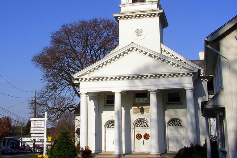 Emmaus Moravian Church, founded in 1747, in Emmaus, Pennsylvania, United States