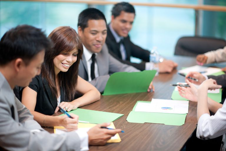 Business people are working on succession plans for their organization.
