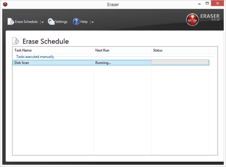 Screenshot of Eraser v6 in Windows 7