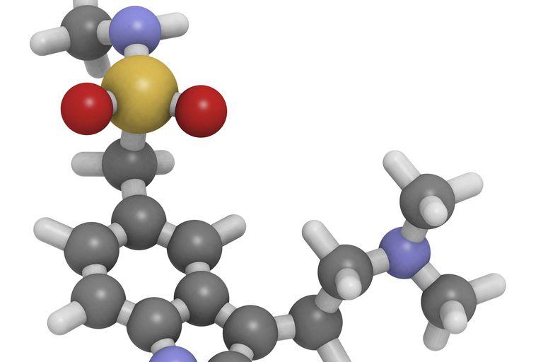 The drug profile of triptan, used to treat migraines.