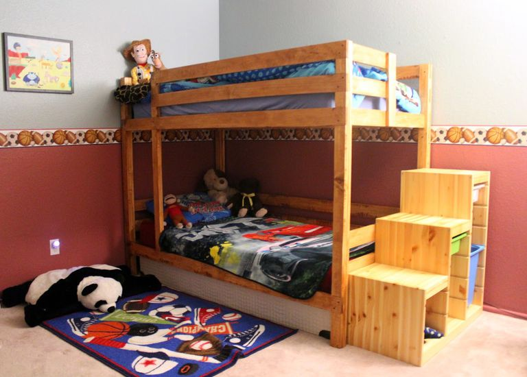 A Bunk Bed With Stairs