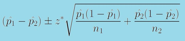 Formula for confidence interval for difference of two proportions