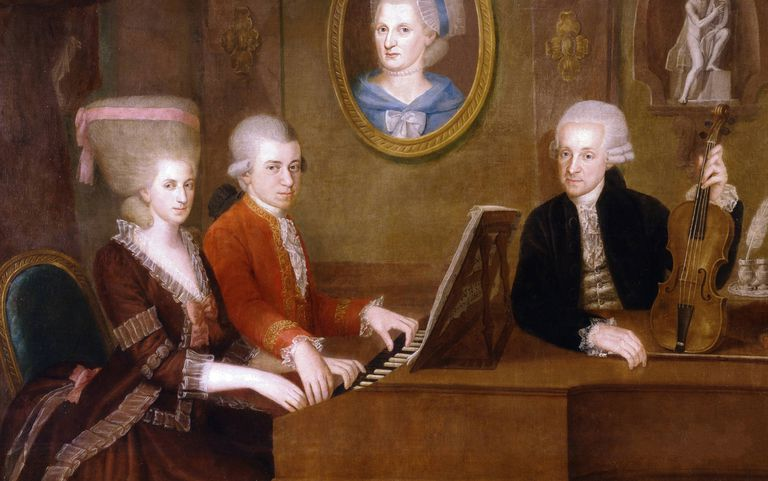 Mozart, his sister, and their father.