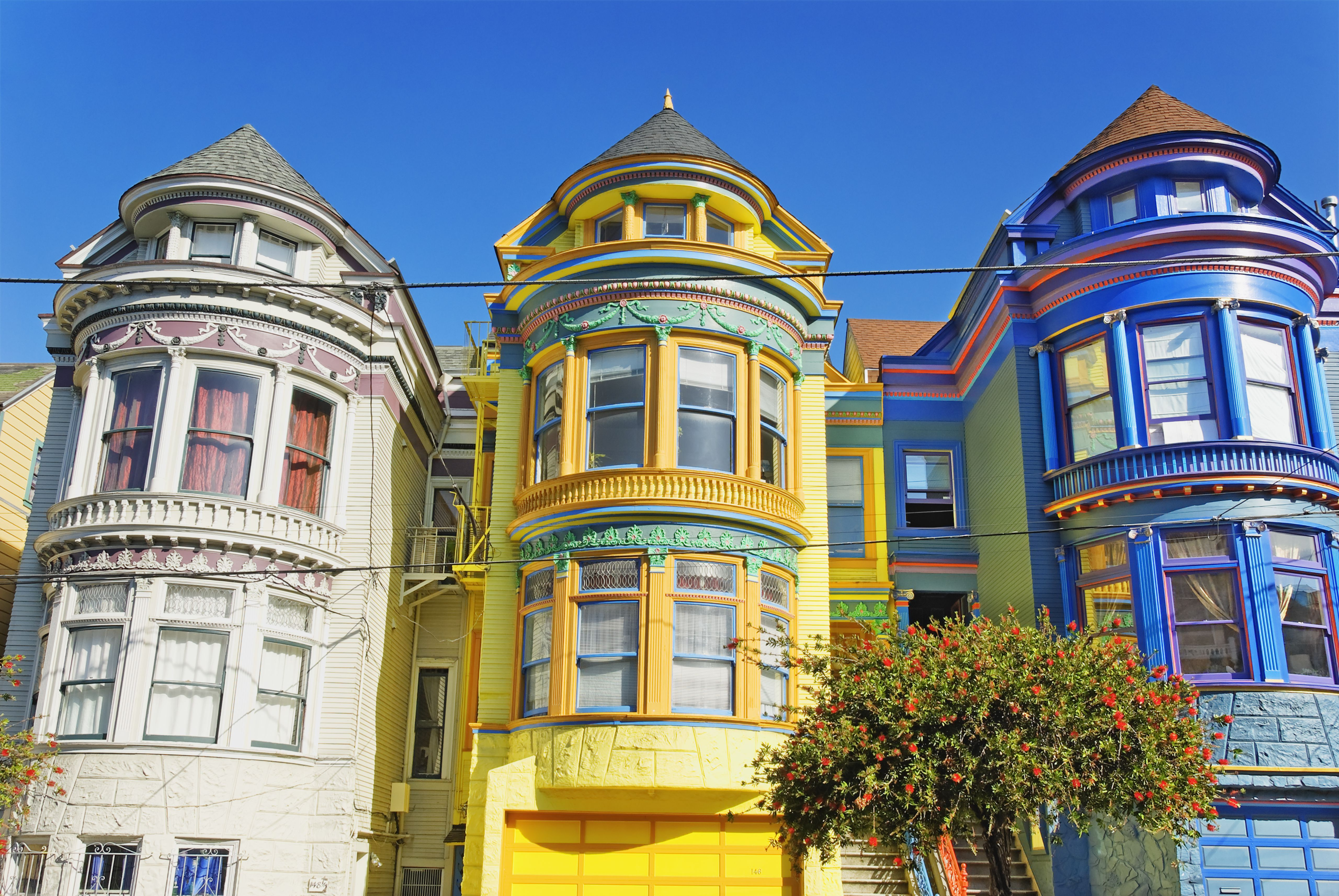 San francisco painted ladies victorian architecture Victorian house front