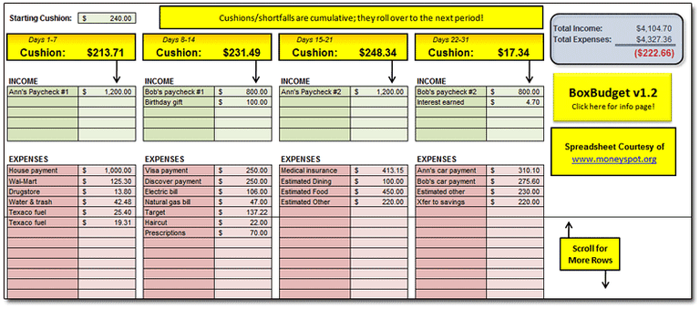 personal finance tracking spreadsheet