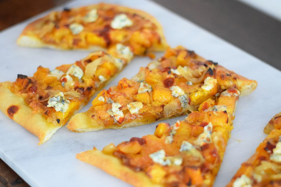 Spicy Caramelized Onion Butternut Squash Pizza