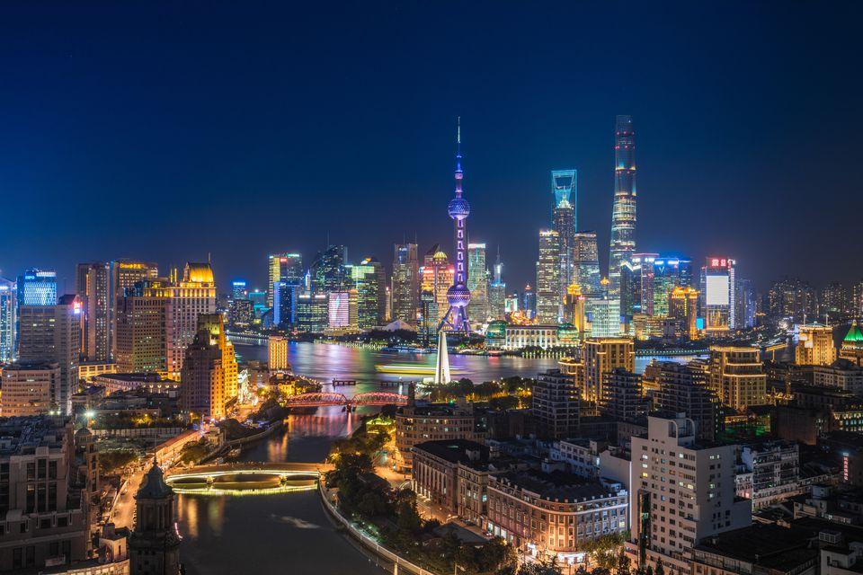 Shanghai bund at night