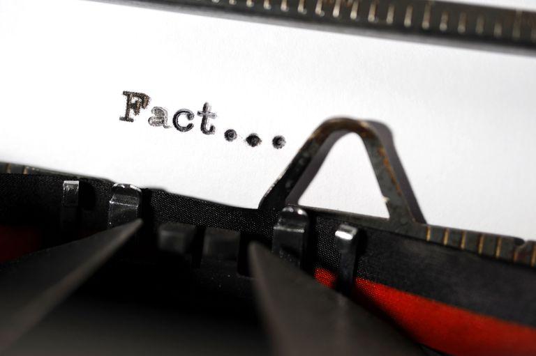 """typewriter typing the word """"fact"""""""