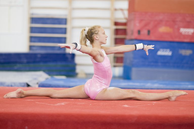 Young Gymnast Doing Splits