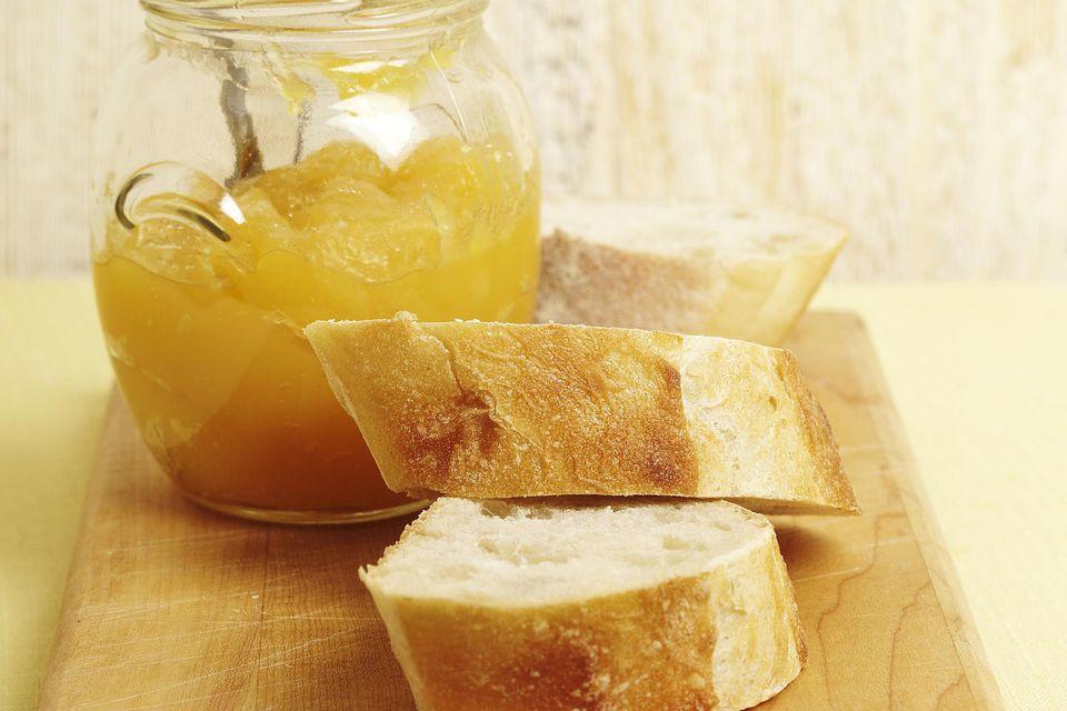 Lemon Curd with Baguette