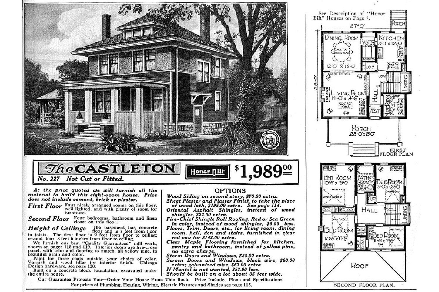 Craftsman foursquare house plans for Catalog houses