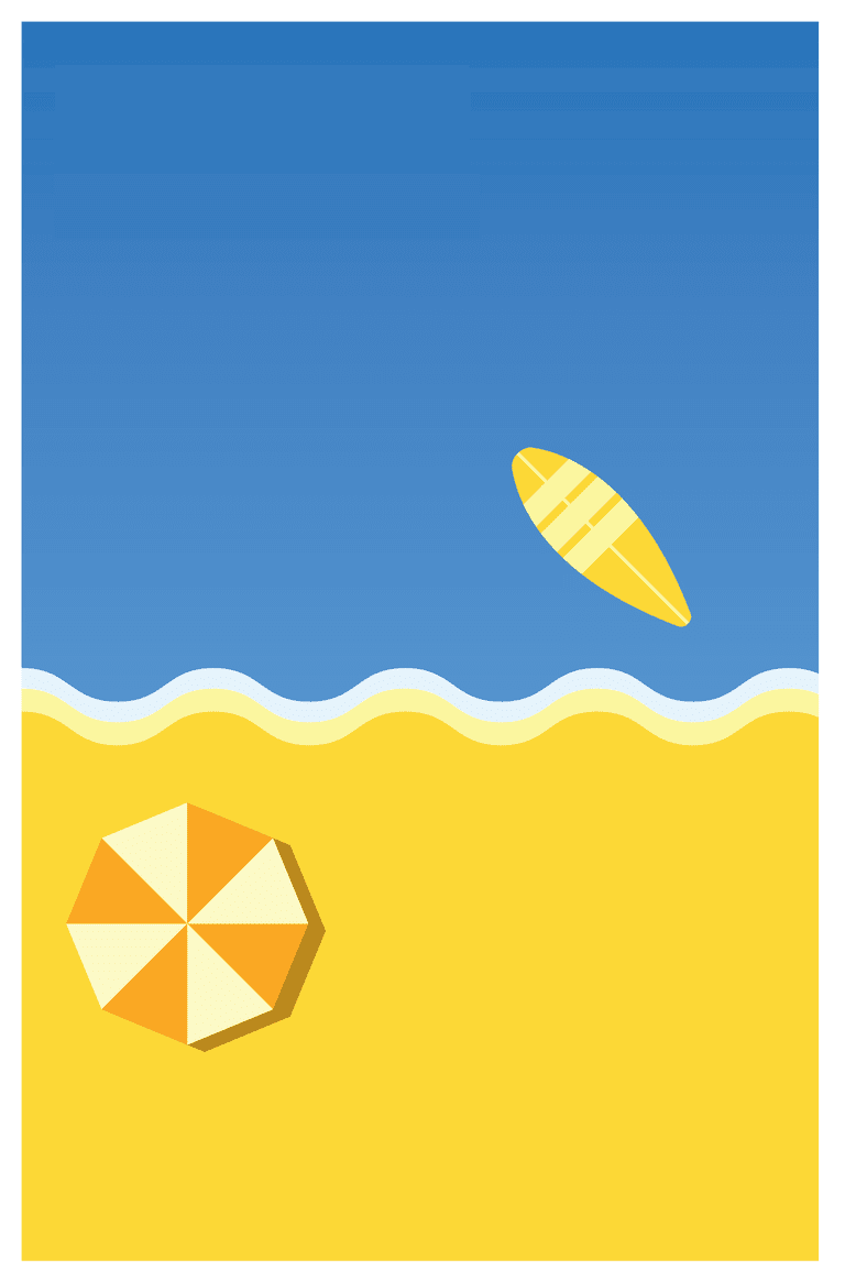 Travel poster with surfboard