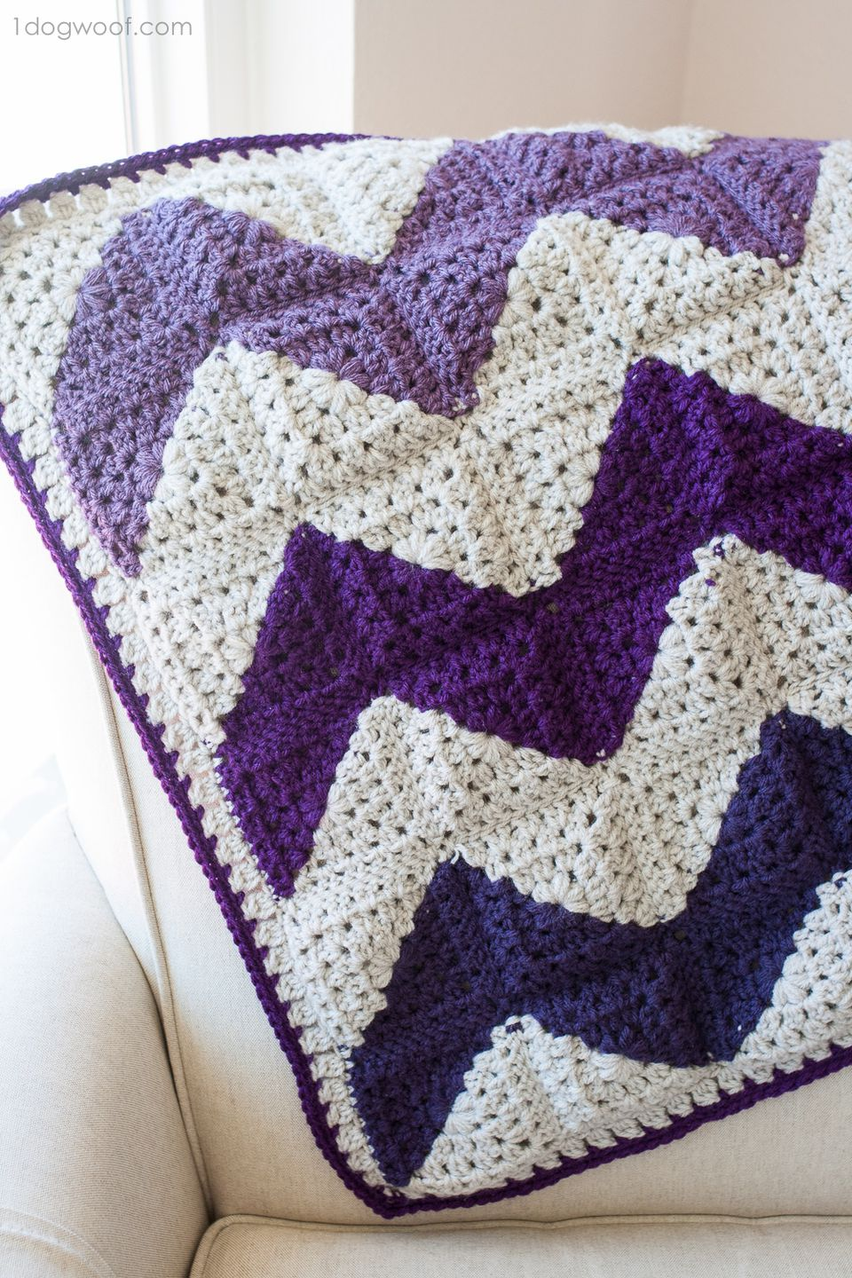 10 free ripple crochet afghan patterns granny squares chevron crochet blanket free pattern bankloansurffo Choice Image
