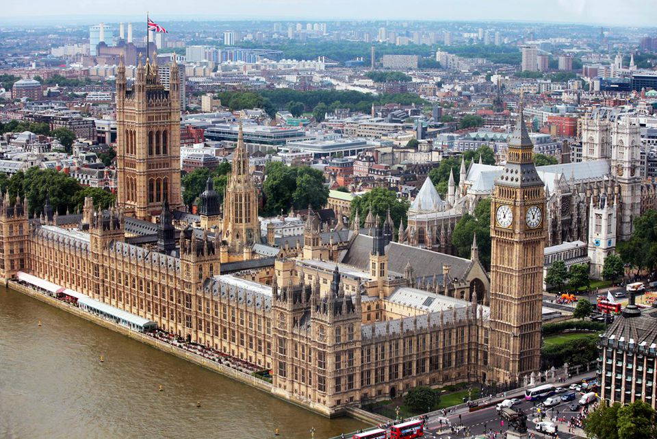 The Palace of Westminster in London