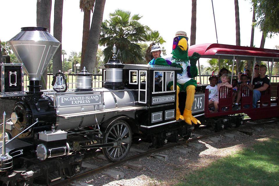 C.P. Huntington Train at Enchanted Island Amusement Park
