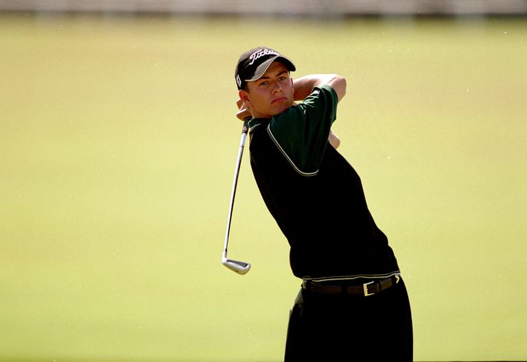 Adam Scott of Australia in action during the second round of the 2000 British Open on the Old Course at St Andrews in Scotland