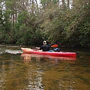 Coldwater Creek Red Kayak