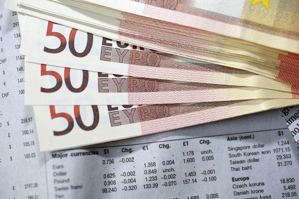 Fifty Euros notes
