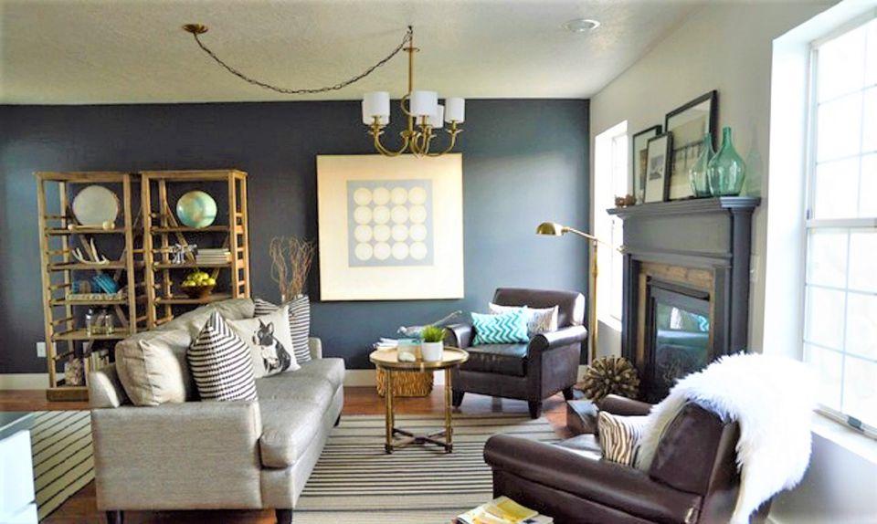Designer Living Room After Makeover