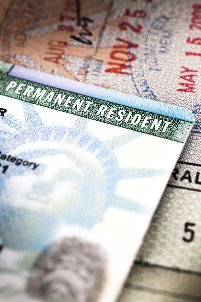 Green cad o tarjeta de residencia
