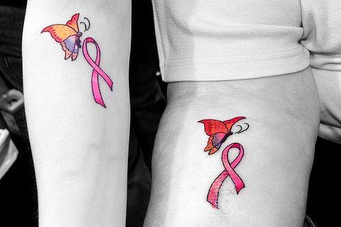 Patty and Katrina's Breast Cancer Tattoos
