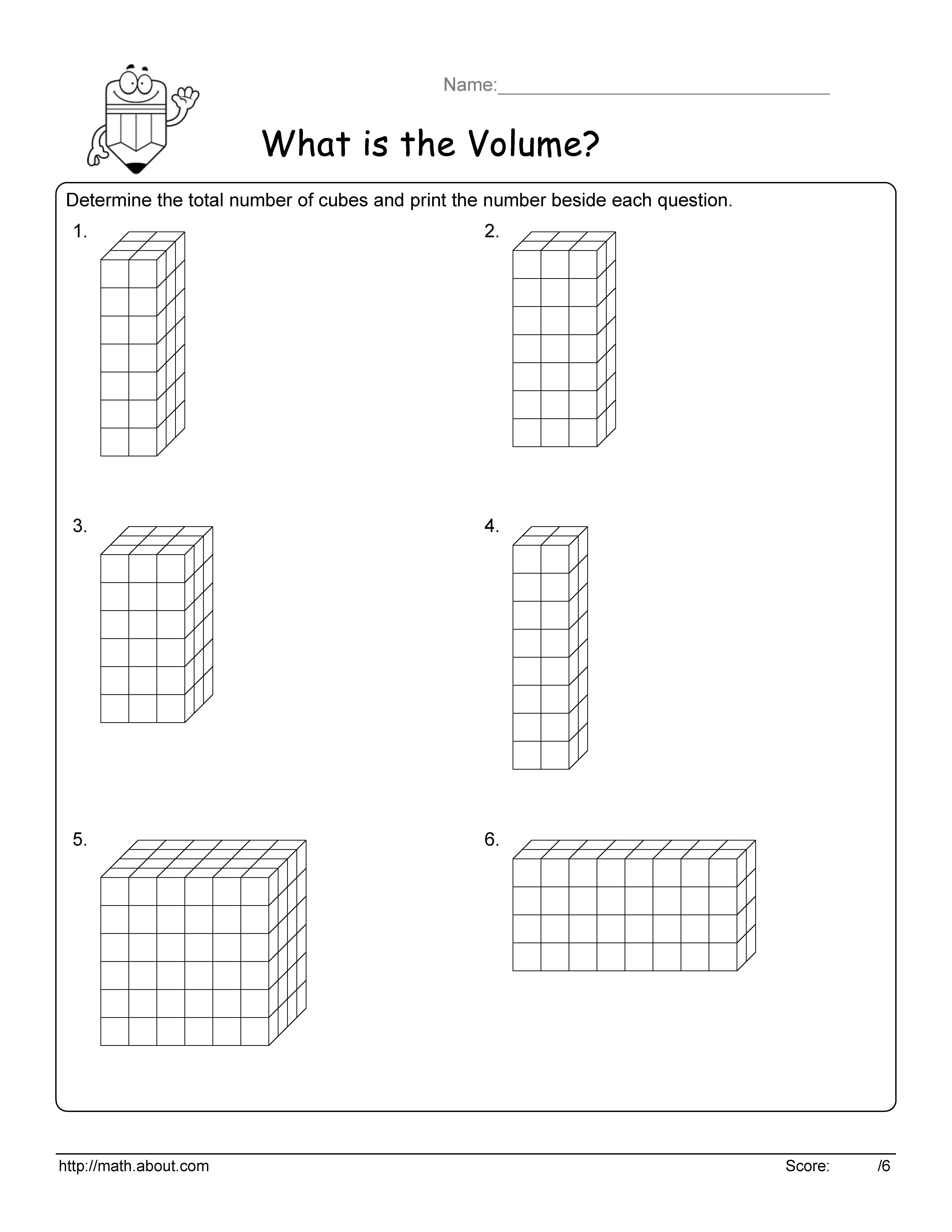 Worksheet Volume Of A Cube Worksheet Worksheet Fun Worksheet Study
