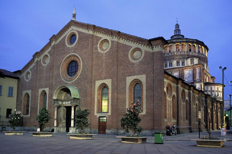 Italy, Lombardy, Milan, Church Of St. Maria Delle Grazie
