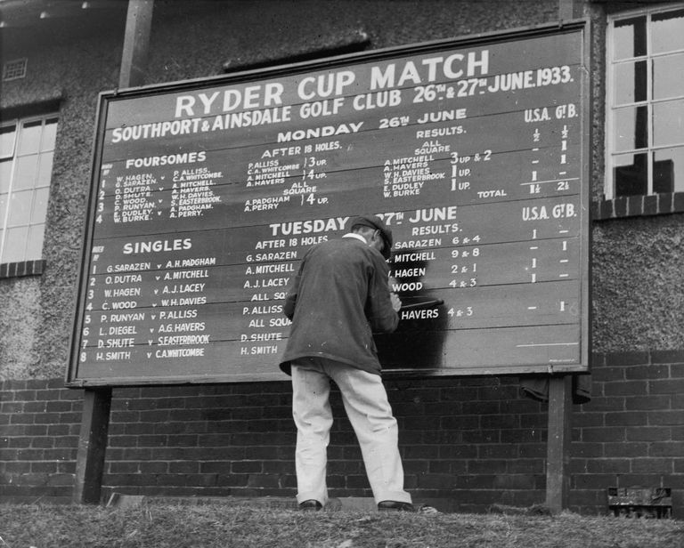 1933 Ryder Cup scoreboard