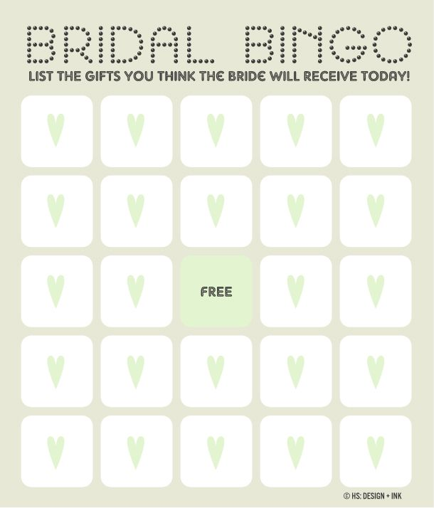 11 free printable bridal showers bingo cards solutioingenieria Image collections