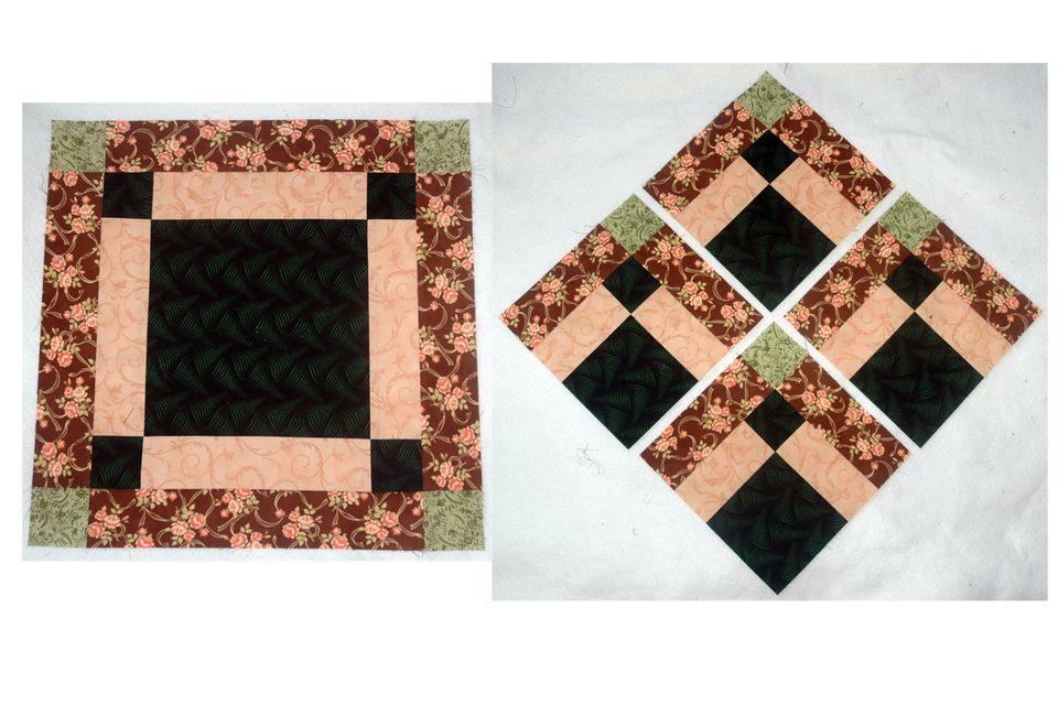 Disappearing Bonnie Scotsman Quilt Block Pattern