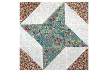 Mosaic Pinwheels Quilt Block Pattern