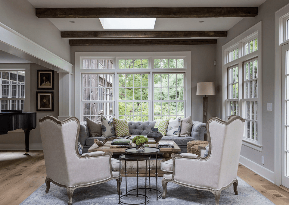 Traditional Gray Sitting Room