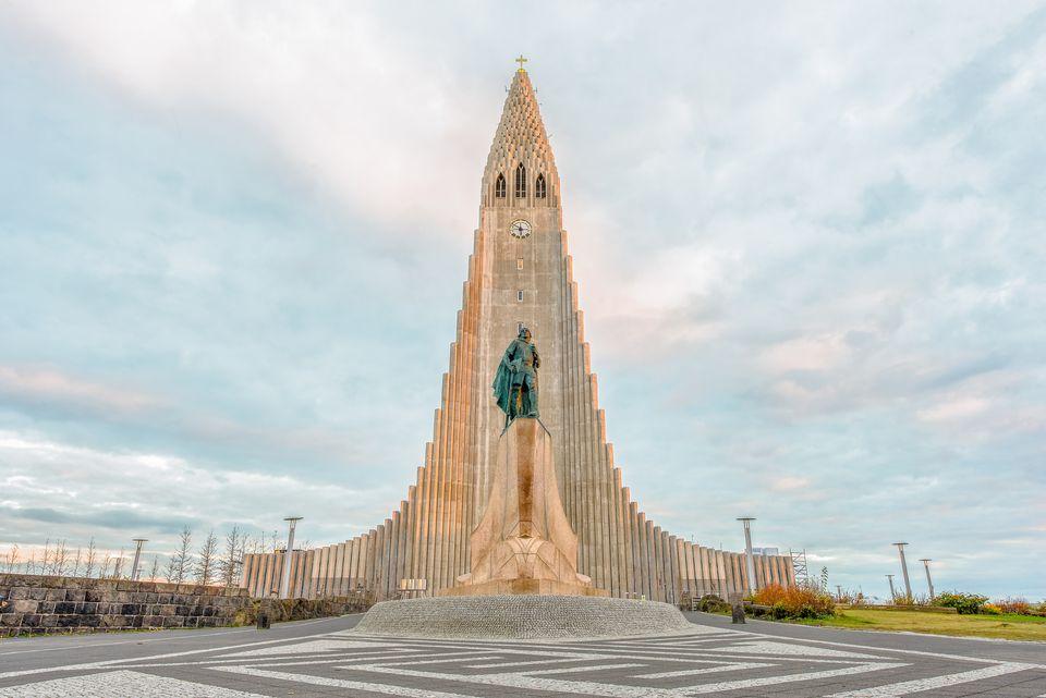 Hallgrimskirkja Cathedral, a Lutheran parish church, Reykjavik, Iceland