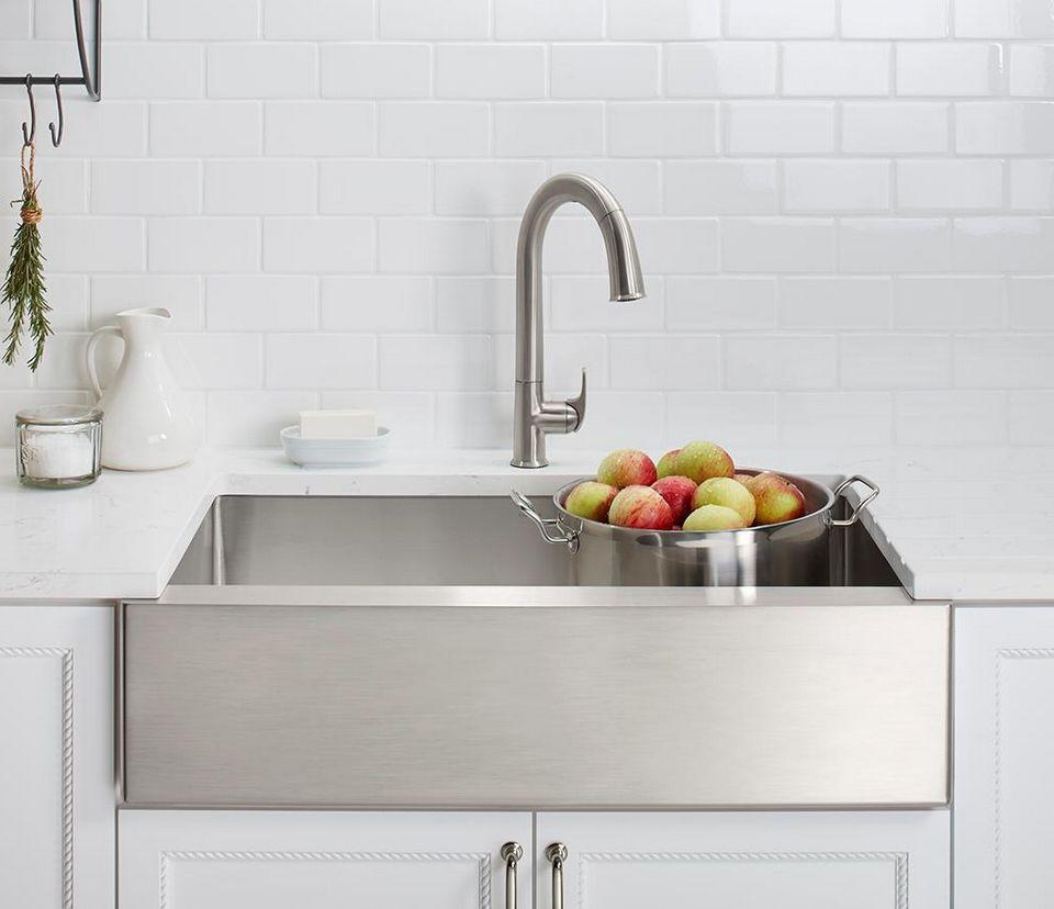 Kohler Stainless Steel Kitchen Sinks Popular stainless steel kitchen sinks kohler strive stainless steel apron sink workwithnaturefo