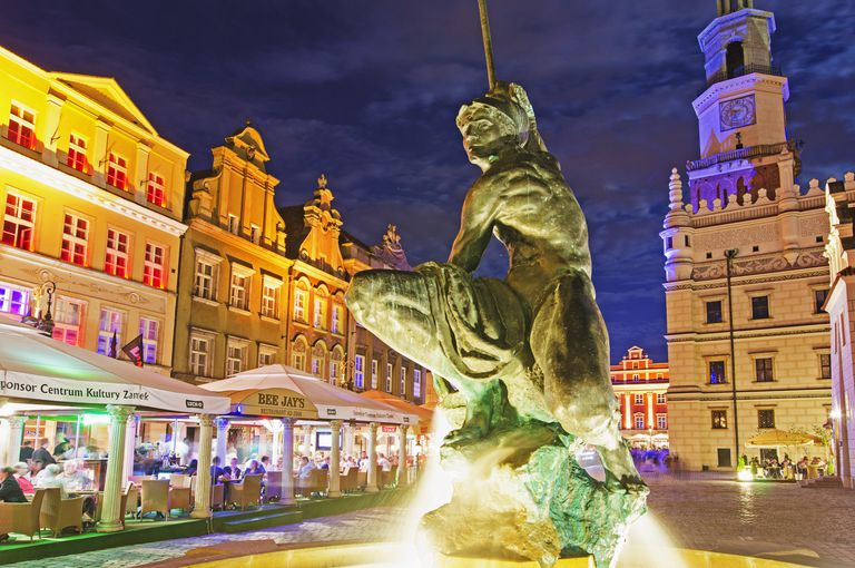 Statue of Mars, historic Old Town, Poznan, Poland, Europe