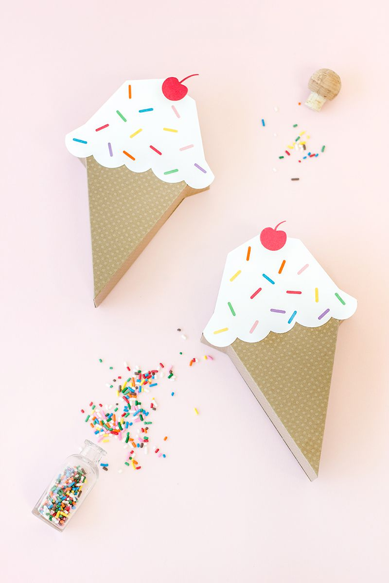 10 cute paper boxes you can diy diy ice cream cone treat box jeuxipadfo Choice Image