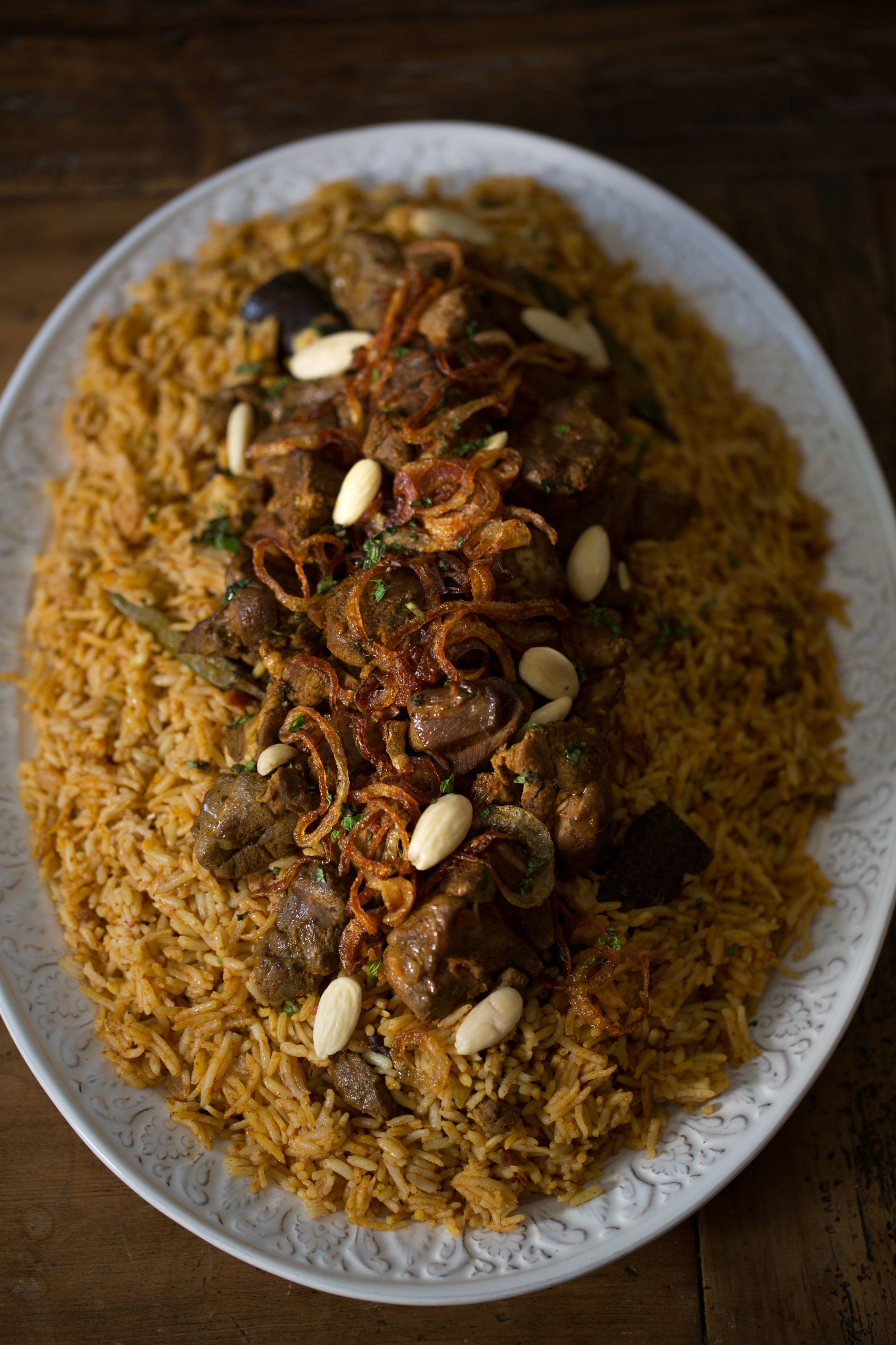 Moroccan Lamb Or Beef Tagines Recipe With Almonds Rice
