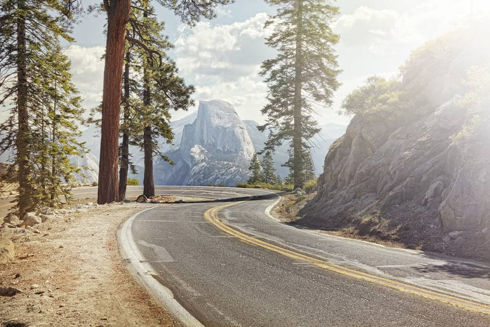 Road from Reno to Yosemite