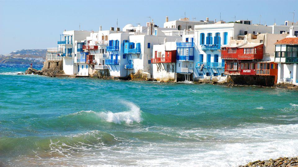 'Little Venice' in Mykonos, Greece