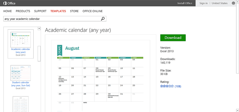 Customizable Calendar Templates for Microsoft Office – Office Calendar Templates