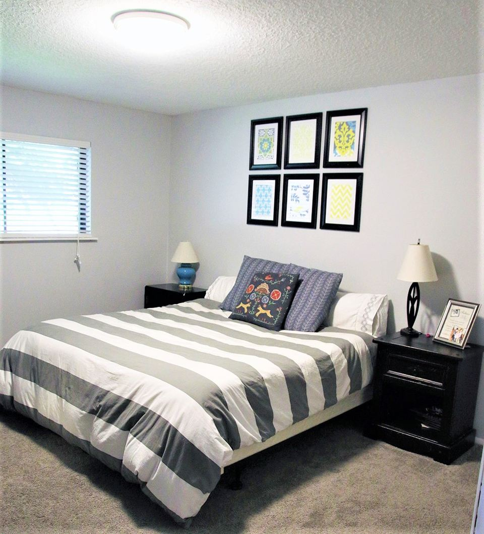 Dark Bedroom in Need of a Makeover