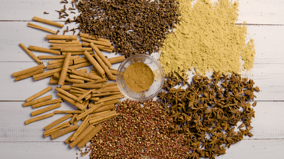 A Color Wheel of Five-Spice Ingredients