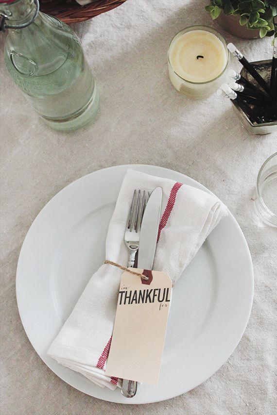 DIY Thankful Napkin Rings